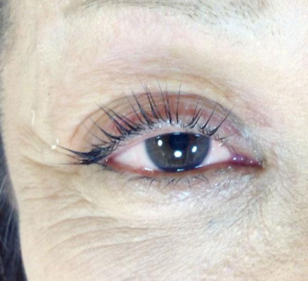 眼瞼下垂対応・特殊まつ毛パーマ施術後